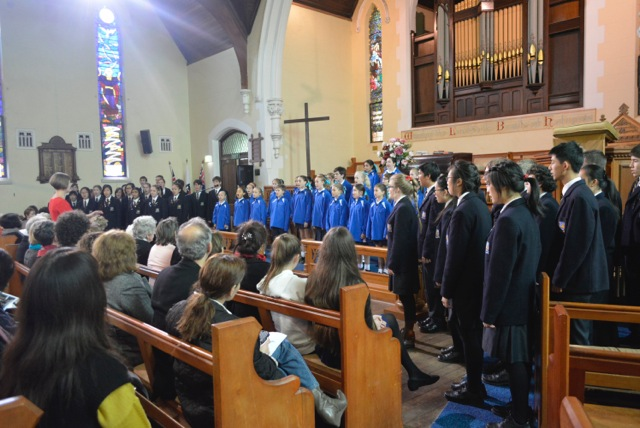 Perth Modern School choir performance at Ross Memorial